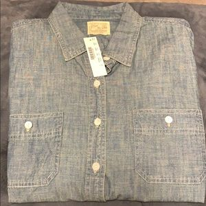 JCrew Japanese selvedge chambray shirt